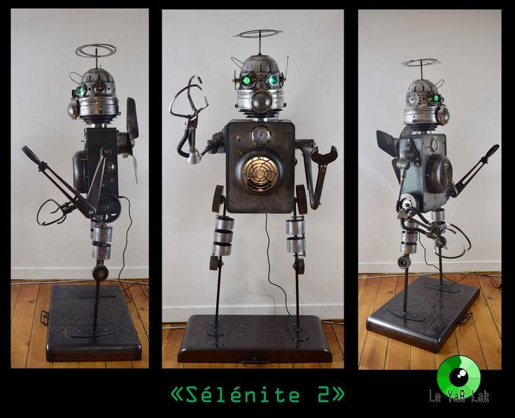 """Sculpture lumineuse """"Sélénite 2"""" Upcycling"""