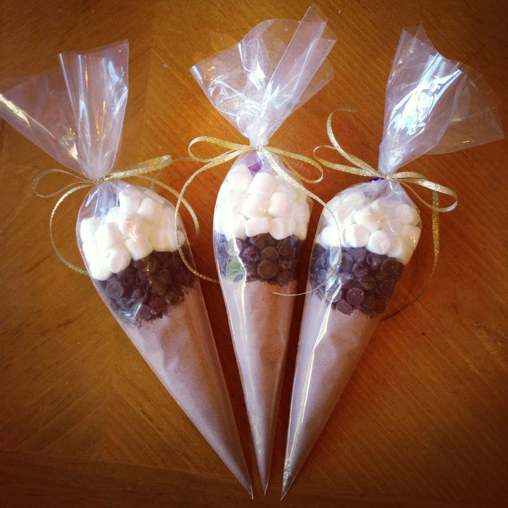 hot chocolate cones