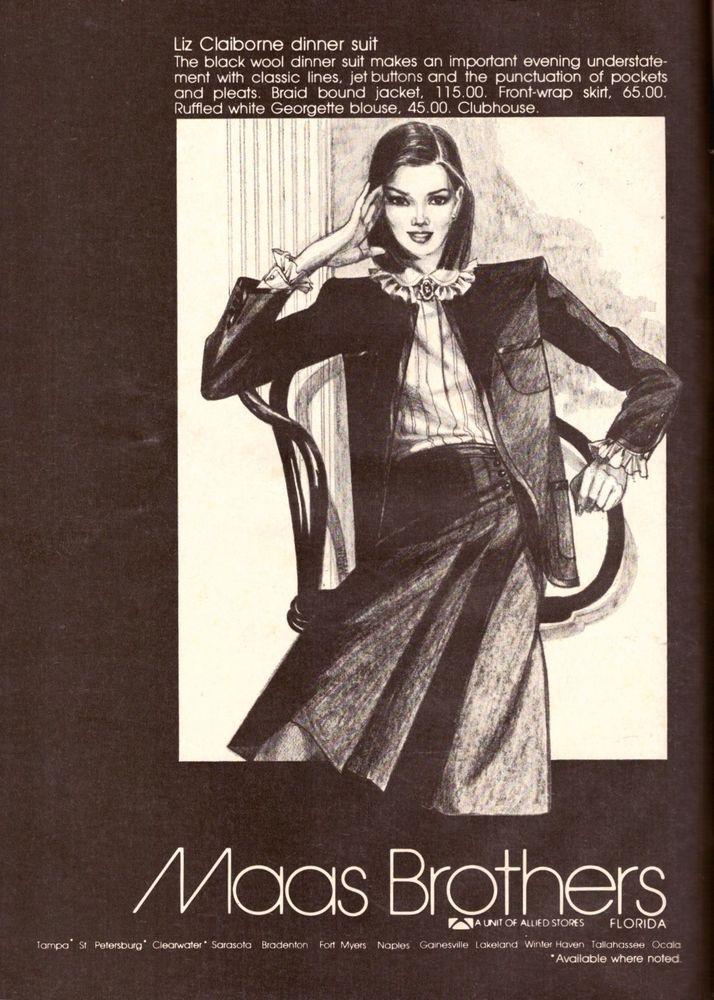 1980 Maas Brothers Department Store Print Advertisement Magazine Ad Vintage 80s | eBay