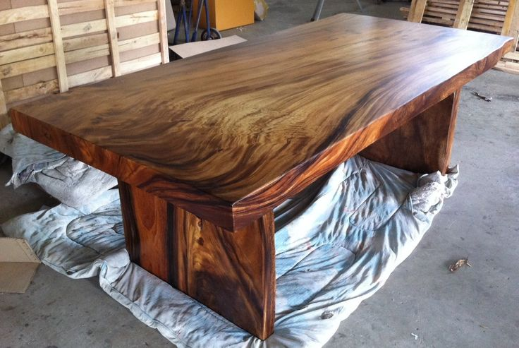 Dining Table Reclaimed Solid Slab Acacia Wood Extremely Rare. via Etsy.