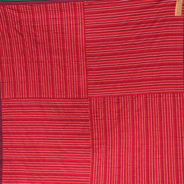 Sunshine and Shadow Quilt for AW and ZT - back. Kaffe Fassett's woven stripes