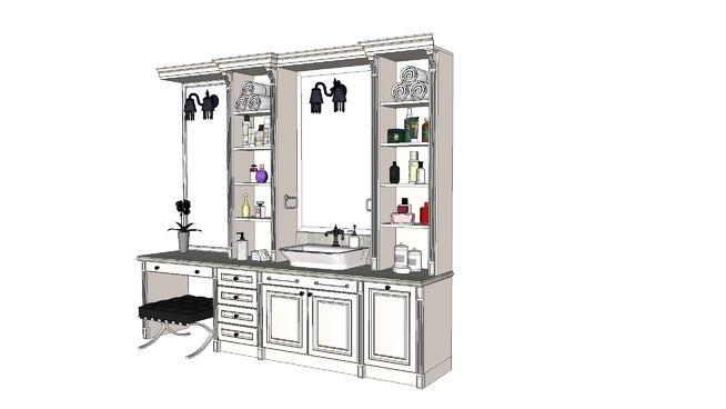 washbasin, shell, commode bathroom, bathroom, умывальник, раковина, комод для ванной - 3D Warehouse