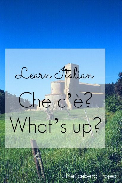 Learn Italian: Che c'è? - What's up?