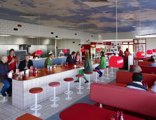 Ab Rogers. Reinvention of Little Chef, Popham, UK