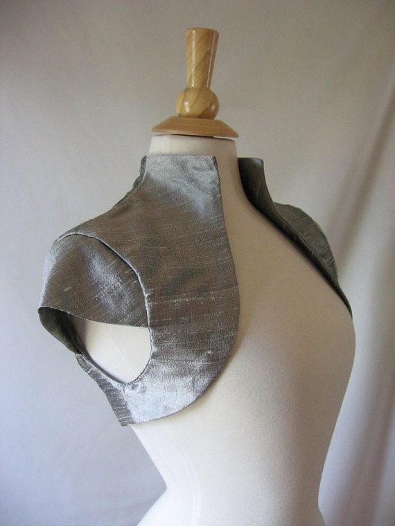 Gelsey Tailored Silk Bridal Bolero Jacket with by EmpressBride