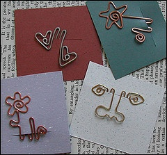 Bookmarks  OH yes a new use for all the times I mess up with my wire...
