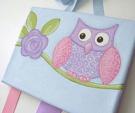 Hair Bow Holder ..One Wise Owl.. Purple Pink by iwantedtowonder, $32.99