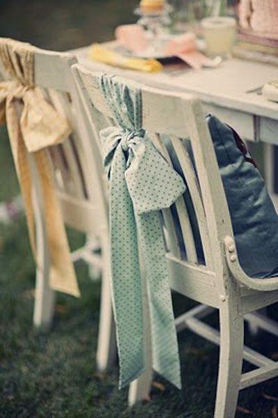 Wedding Chair Decor | Intimate Weddings - Small Wedding Blog - DIY Wedding Ideas for Small and Intimate Weddings - Real Small Weddings