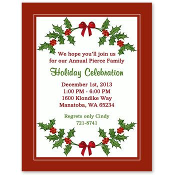 29 best holiday open house invitations images on pinterest open christmas party invitation wording christmas party invitations wording stopboris Choice Image