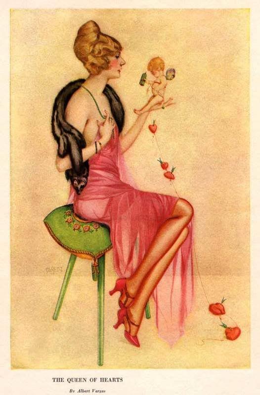 1922 Albert Vargas Queen of Hearts