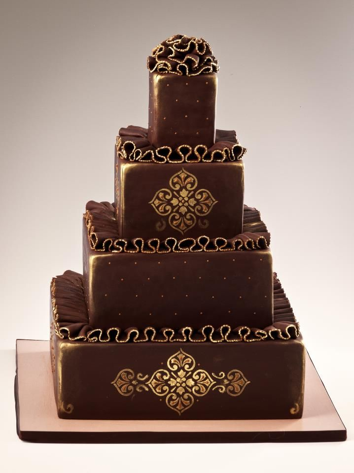 square chocolate wedding cakes 42 best wedding cakes brown and chocolate images on 20360