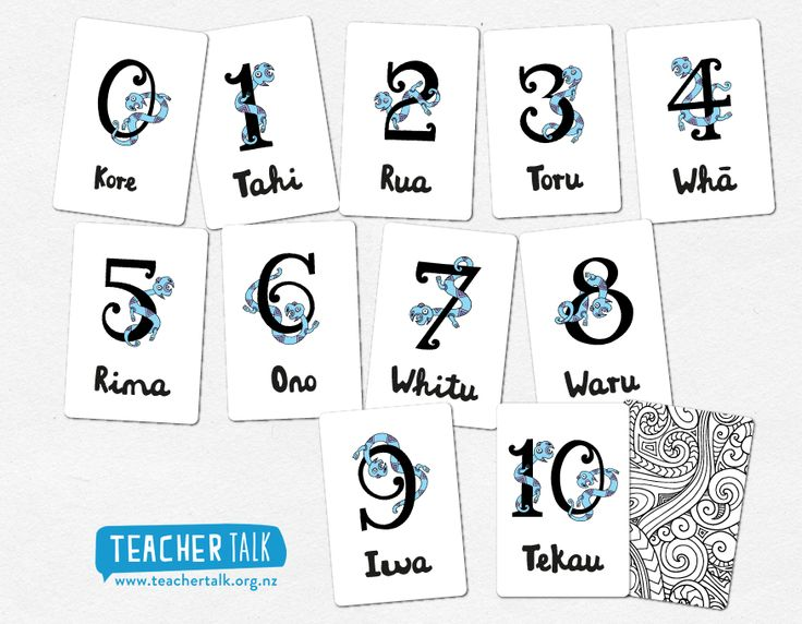 Taniwha Numbers - Learning the numbers in the reo Maori