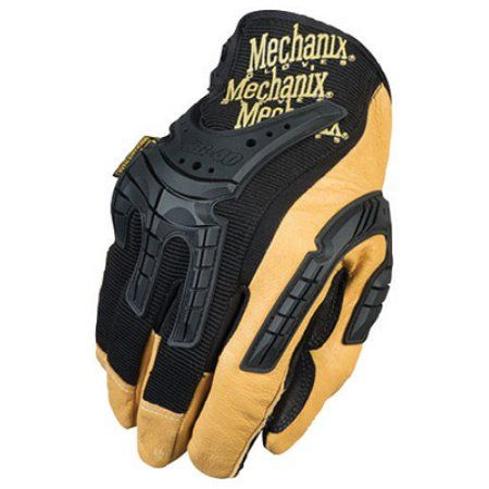 Mechanix Wear Medium Black And Brown CG Heavy Duty Full Finger Leather And Rubber Mechanics Gloves With Low Profile Cuff And Multi-Zone Padded Palm
