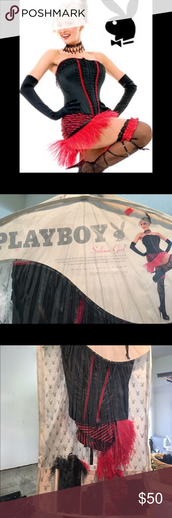 Playboy Halloween Costume Saloon Girl Playboy Halloween costume. Fully intact only worn once. Playboy Accessories