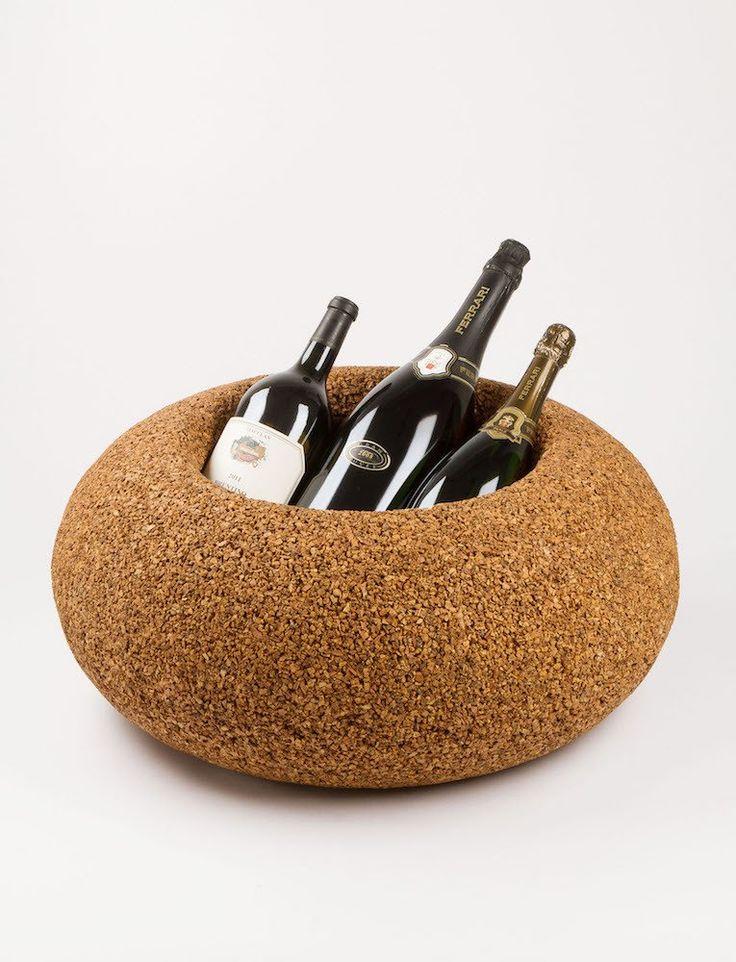 Bottigliera Portaghiaccio In Sughero Glacette Greencorks #ecodesign #green #ecofriendly #sostenibilità #cork #wine