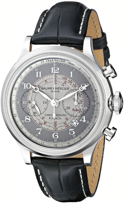 men watches Best luxury watches for men Baume & Mercier Men's BMMOA10086 Capeland Analog Display Swiss Automatic Black Watch