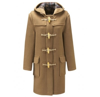 camel duffle coat with wooden toggles £149.99