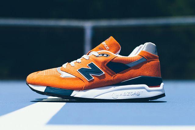 new-balance-998-orange-navy. Eye catching for sure.