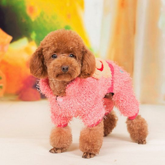 Pink Teddy Bear Winter Jumpsuit - Dog Clothes