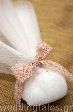 Μπομπονιέρες Γάμου: Ρομαντική τούλινη μπομπονιέρα γάμου
