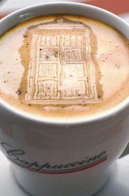 Door!! It's the tardis! >> Door Latte Art - www.pinterest.com/amanemiura