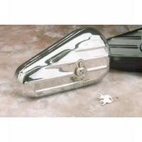 Drag Specialties Chrome Teardrop Toolbox (Left Side) - Harely Davidson Models