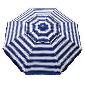 DayTripper Beach Umbrella - Navy/White Stripe - BeachKit
