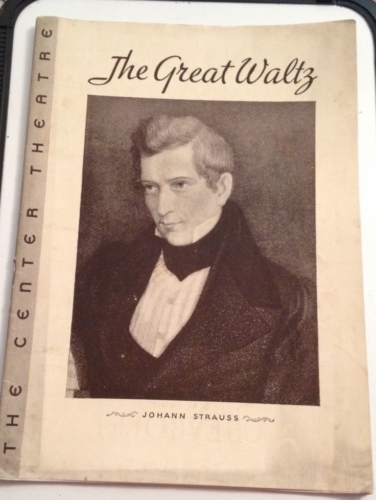 Playbill 1934 Center Theatre Program The Great Waltz Max Gordon Broadway NYC Johann Strauss Vintage Souvenir Book
