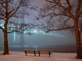 Bridge in Winter Fog wallpaper from www.freewallpaperstock.com