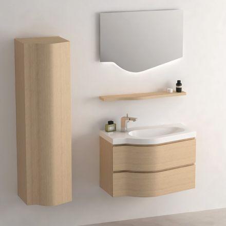 ensemble de mobilier pour salle de bain comprenant une colonne de rangement un mobilier plan - Meubles De Rangement Pour Salle De Bain