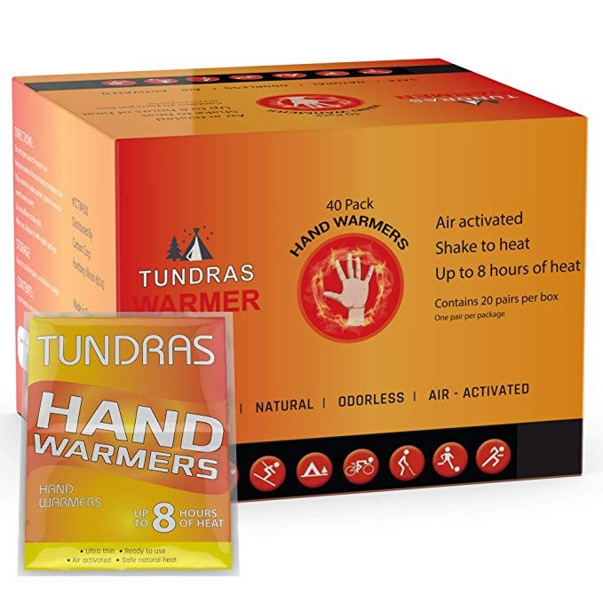 Long Lasting Safe Natural Odorless Air Activated Warmers 40 Pair Up to 10 Hours of Heat HotHands Hand Warmers