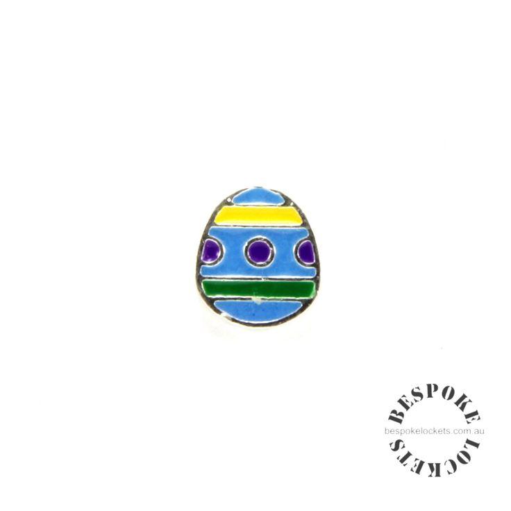 Blue Easter Egg floating charm