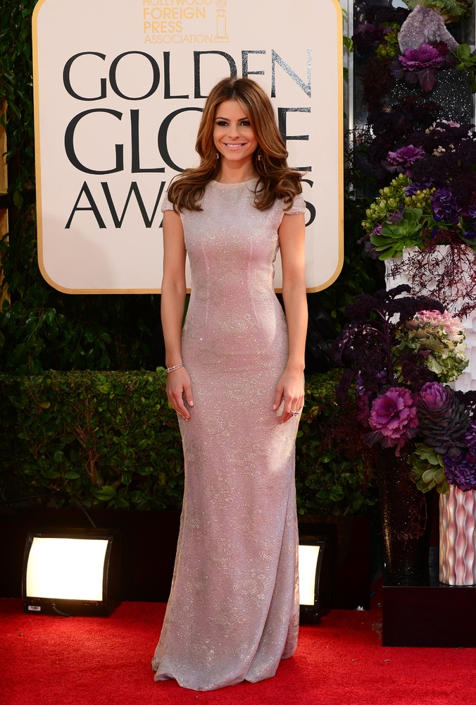 Maria Menounos in Celia Kritharioti - 2013 Golden Globes Red Carpet