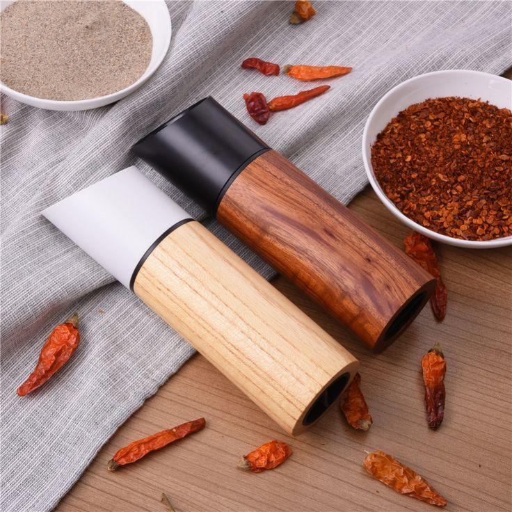 Wooden Salt & Pepper Grinders Salt And Pepper & Spice Grinders Mills Manual Pepper Mill 2 pcs/set Creative Kitchen Tools