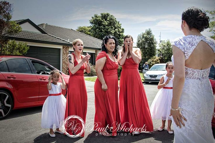 Surprise for the bridemaids.  #wedding #photography. PaulMichaels www.paulmichaels.co.nz photographers
