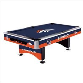 #Denver #Broncos Pool Table, this would be perfect in my front room