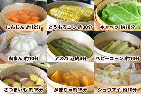 蒸篭(せいろ) 蒸し野菜 蒸し時間