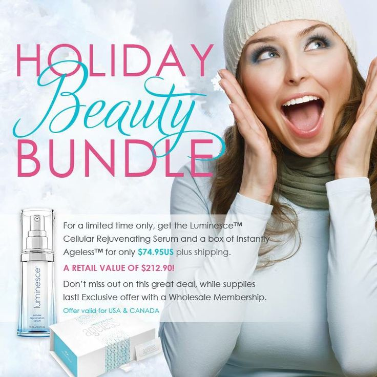 Fill stockings with some Instantly Ageless(2-3 minutes miracle cream!) and give the gift of youth! Price is WAY below wholesale pricing!!