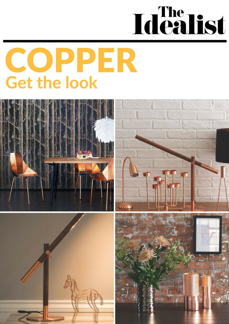 We're crazy about copper, so we've hunted down the most beautiful and striking design pieces to help you add the copper trend to your home.