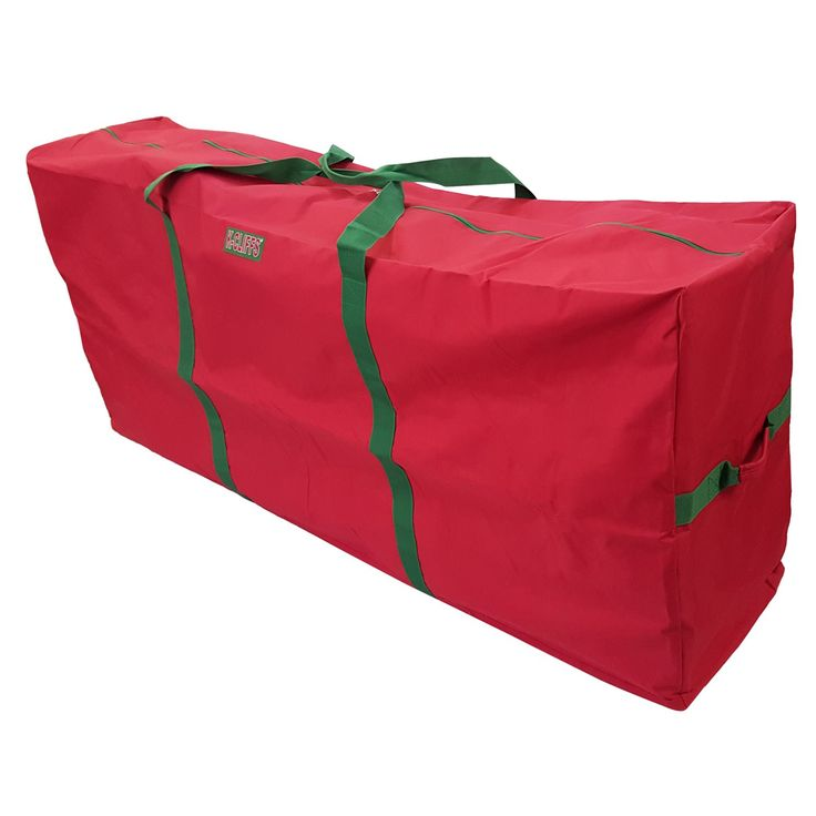 "Heavy Duty Christmas Tree Storage Bag Fit upto 9 Foot Artificial Tree Holiday Red Extra Large Dimensions 65"" x 30"" x 15"""