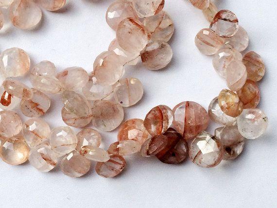 Graphic Quartz Beads Graphic Quartz Faceted Heart by gemsforjewels