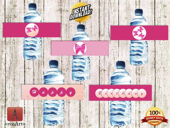 Hey, I found this really awesome Etsy listing at https://www.etsy.com/listing/242133190/water-bottle-labels-butterfly-labels
