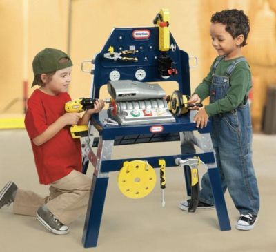 Toy Mechanics Tools Little Tikes 2 In 1 Kids Workbench