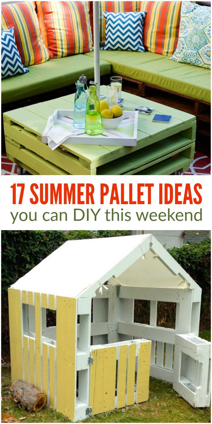 Get some of those projects off your to-do list with these 17 summer pallet ideas you can DIY this weekend! via @leviandrachel
