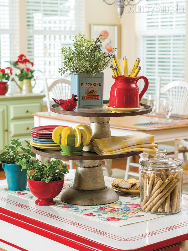 8 best centerpieces for all seasons images on pinterest for Country kitchen table centerpiece ideas