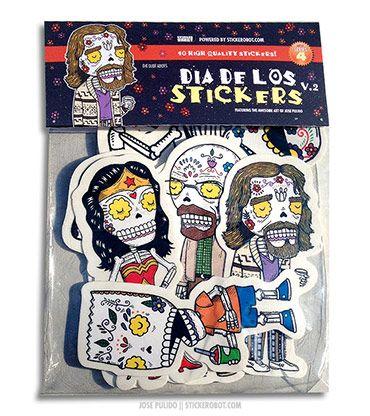 Sticker Robot Store - Dia De Los Stickers