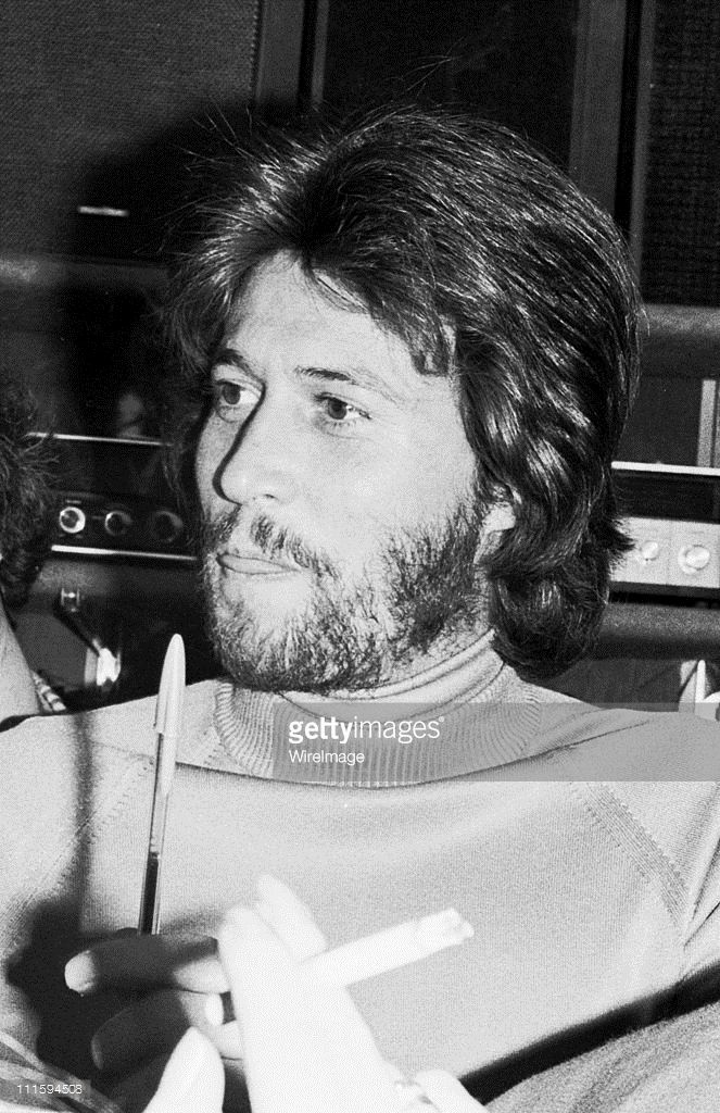 Barry Gibb during Bee Gees In Store Appearance at Record World - November 21, 1976 at Record World in Roosevelt Field, New York, United States.