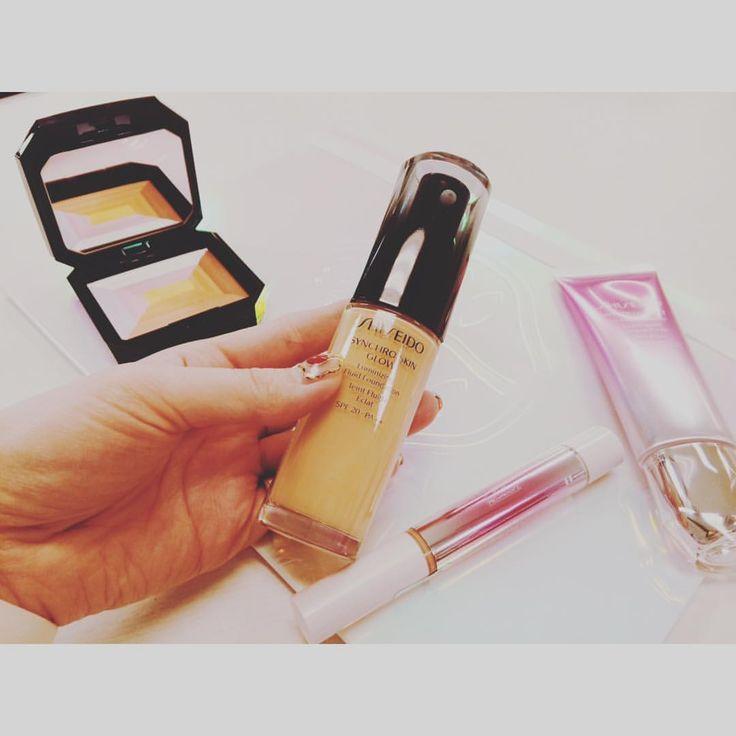 #shiseidoginzatokyo 春夏の新作発表会へ💄 3月に新発売する#シンクロスキン を試してきました♡みずみずしくて伸びがいいのにカバー力があり✨  季節は冬だけど、春のことを考えるとテンション⬆︎⬆︎ #shiseidoginzatokyo #shiseido17ss #シンクロスキン #ファンデーション #コスメ