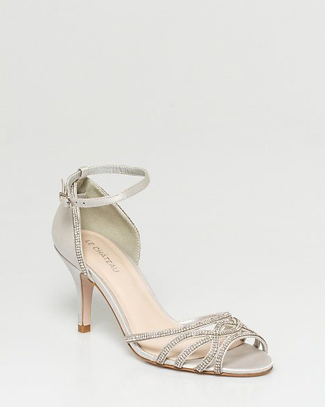 Jeweled Satin Strappy sandal