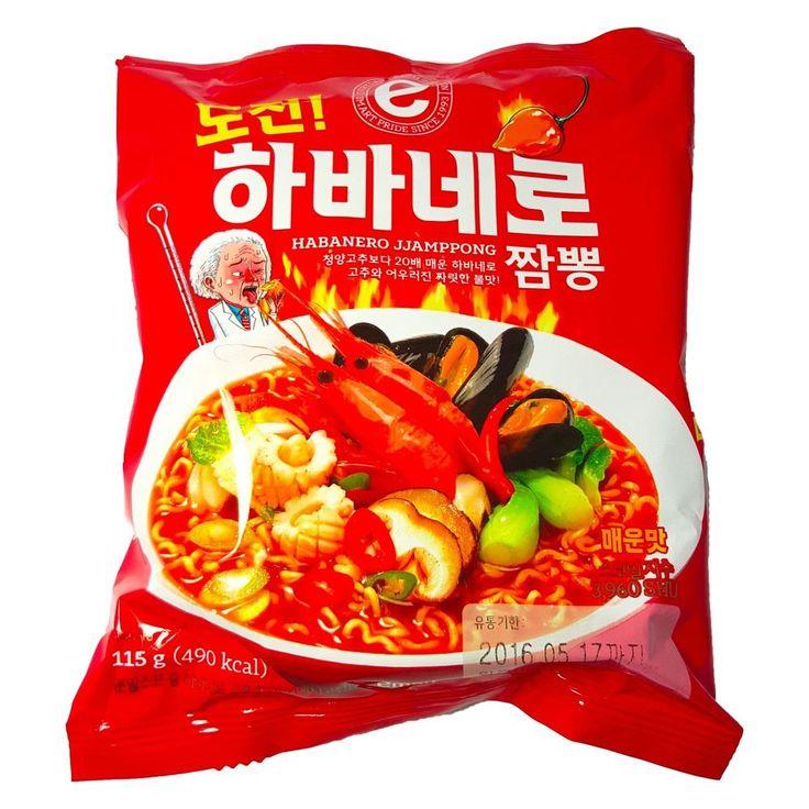 [Emart] Spicy Korean Instant Noodle Habanero JJamPPong x3,6,10 Pack Ramen Ramyun #Emart #InstantKoreanNoodlePack